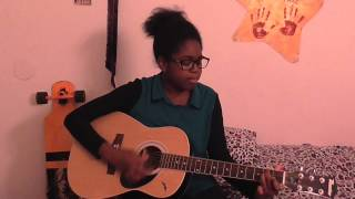 aleshia singing k michelle s vsop on the acoustic guitar