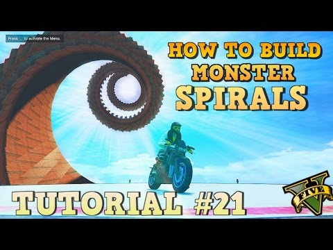 GTA 5 Tutorial #21 - MONSTER BARGE SPIRALS - HOW TO BUILD ( GTA V Content Creator )