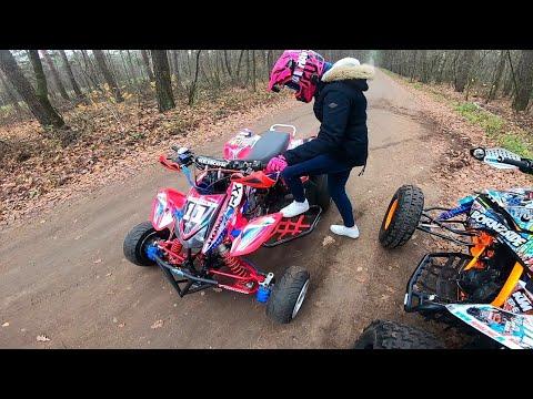 Jazda na 2 quady KTM vs Honda TRX450r || Born2RiDE Vlog