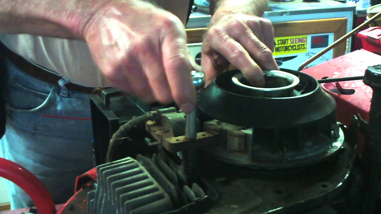 How To Set The Gap Between Coil Amp Flywheel On A Lawnmower