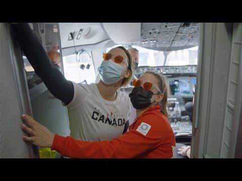 Air Canada: Welcome aboard this flight to Tokyo | Bienvenue à bord de ce vol à destination de Tokyo