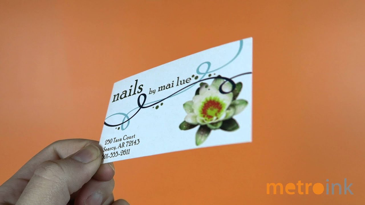 metroink business cards raised ink youtube