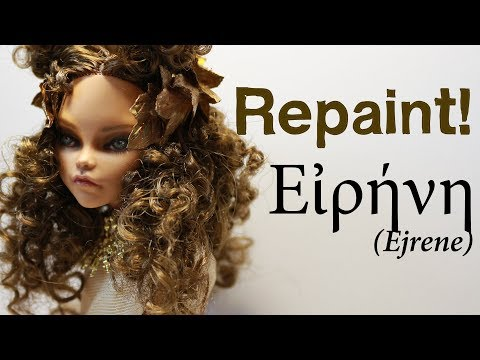 Repaint! Εἰρήνη OOAK custom doll ERA SWAP ancient Greece