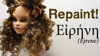 Repaint! Εἰρήνη OOAK custom doll ERA SWAP ancient Greece