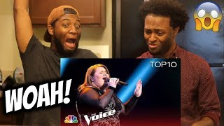 Makenzie Thomas Performs because You Loved Me - The Voice 2018  Amazing!!