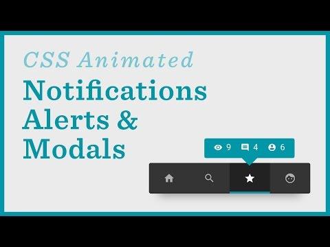 Notifications, Alerts, Menus — CSS Animations