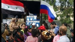 Russian humanitarian aid to Syrians