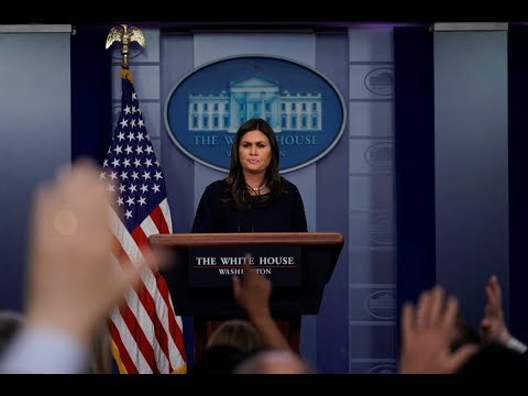 WATCH LIVE: President Donald Trump's press secretary Sarah Sanders holds White House news briefing