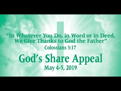 God's Share Appeal 2019