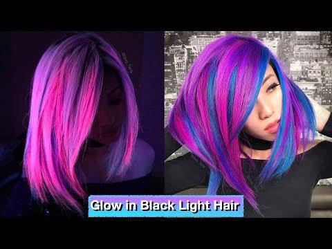 Glow In Black Light Hair