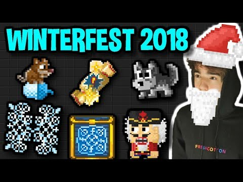 WASTING ALL MY DLS ON WINTERFEST 2018 | Growtopia