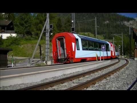 RhB - Rhätische Bahn - Glacier Express in Bergün & Dorf Bergün