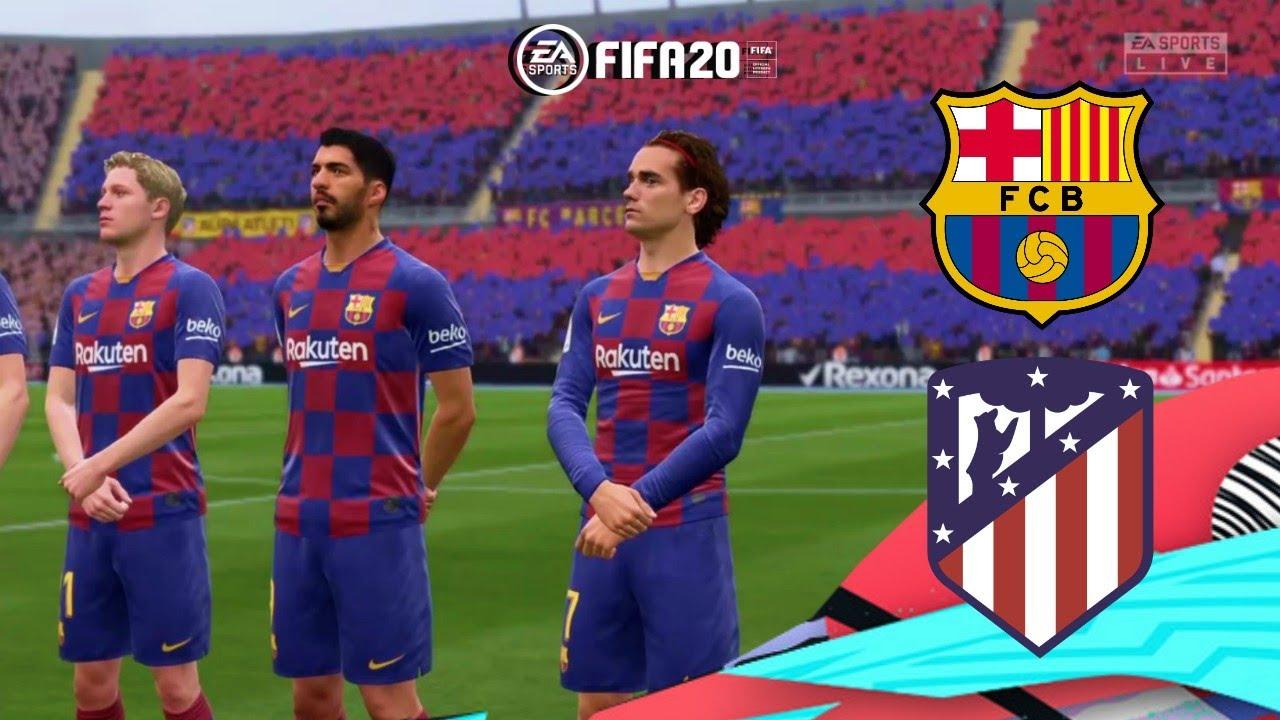 FIFA 2020 Barcelona VS Atletico Madrid PS4 Gameplay - YouTube