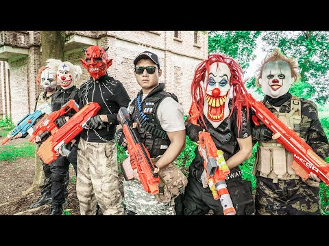 LTT Films : Warriors Black Man Nerf Guns Fight Criminal Group Tiger Mask Infiltrate Enemy Lair