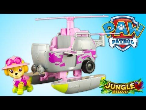 Pat Patrouille Stella Paw Patrol Jungle Rescue Helicoptère Jouet Toy Review Patrulla de Cachorros