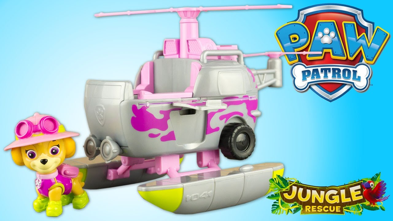 Paw Patrol Jungle Rescue Skye S Jungle Copter Review Patrulla De Cachorros Toys For Kids