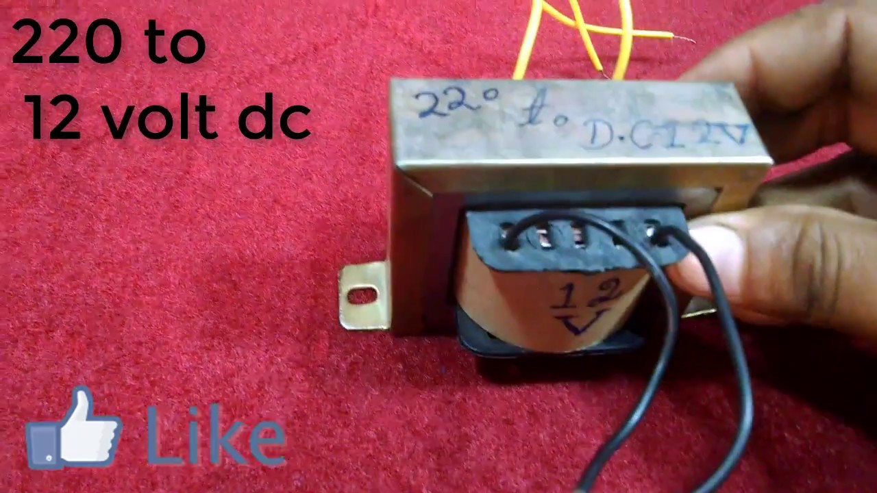 Transformer 12 to 220 volt do it yourself 14