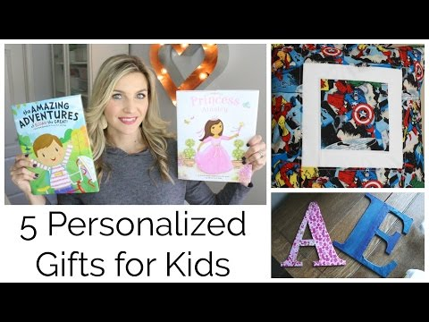 5 Awesome Personalized Gifts for Kids! And a book Giveaway!