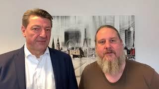 Hamburger Bürgerschaftswahl 2020 | Jan Koltze mit Unterstützer Thies Hansen