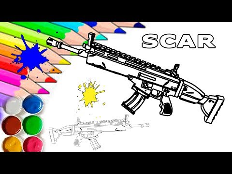 Fortnite Scar (Siegebreaker) Homemade Printable Coloring Page For Kids