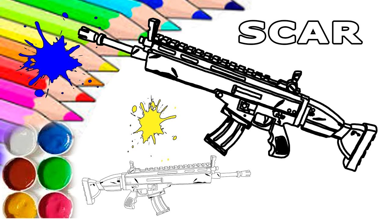 Fortnite Scar Siegebreaker Homemade Printable Coloring Page For Kids