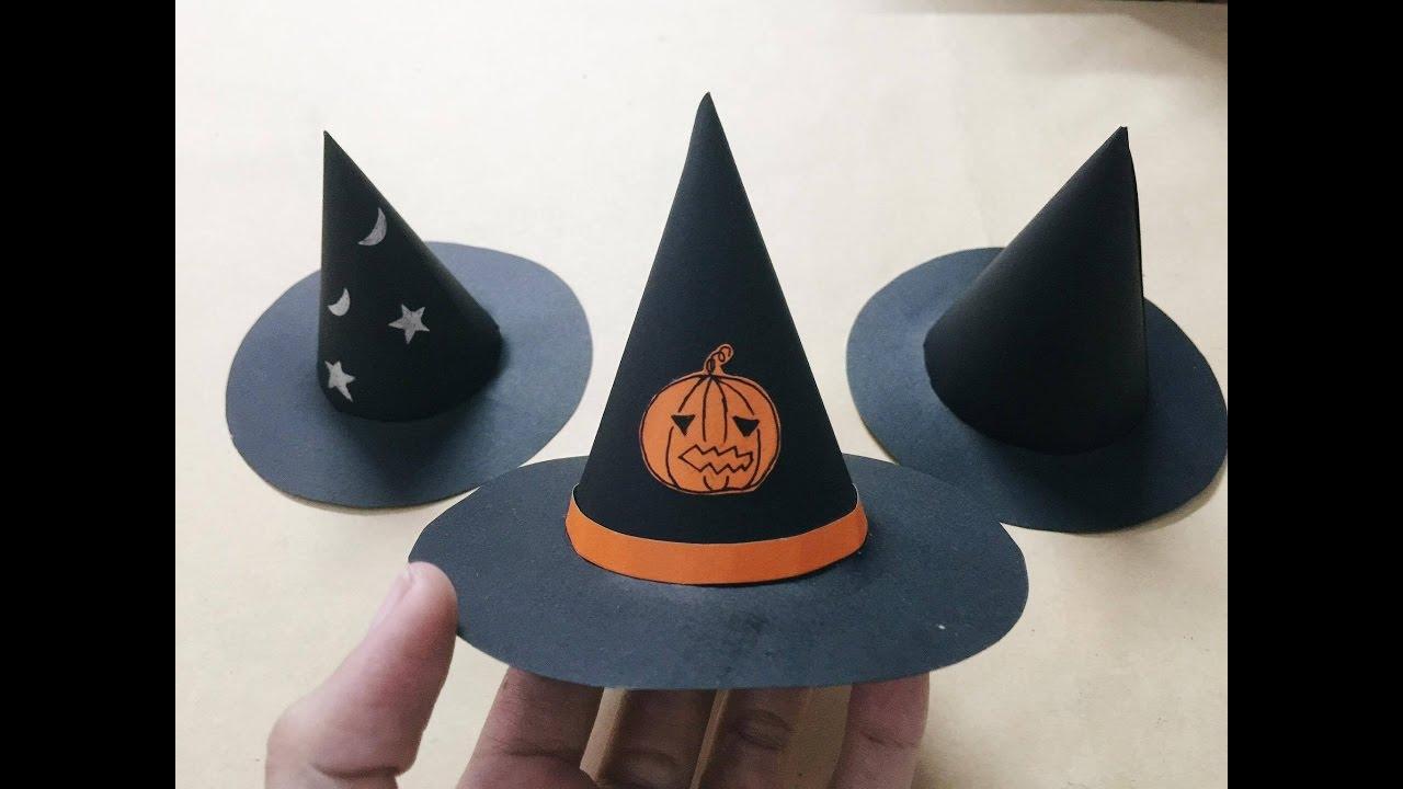 Hướng dẫn làm nón Halloween- Nón phù thủy – NGOC VANG