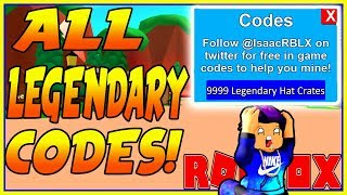 Roblox MINING SIMULATOR LEGENDARY CODES! (All FREE Money Codes Working)