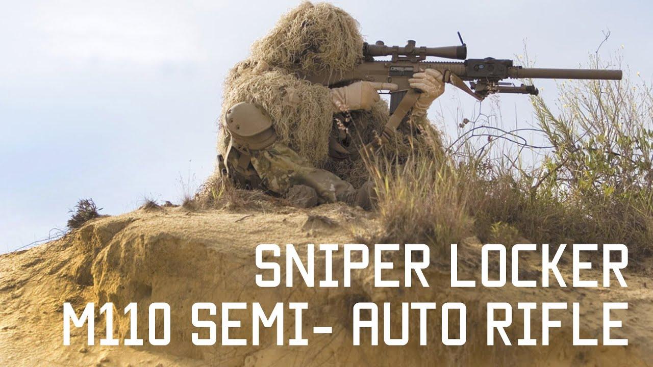 M110 suppressed semi-automatic precision rifle | Sniper ... M110 Sniper Rifle Suppressed