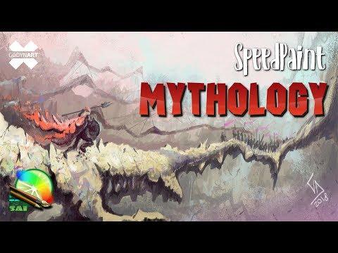 SpeedPaint (SAI) – Рисуем мифологический пейзаж / Mythological landscape painting