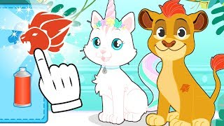 BABY PETS 🦄🦁 Kira and Max Dress up as your favourite Cartoon Characters
