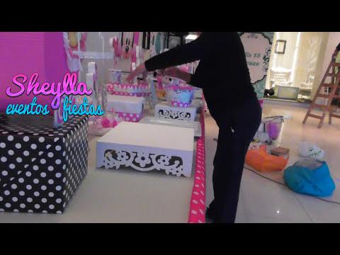 Como Presentar Una Mesa De Minnie Bebe Decoracion De Fiesta Infantil Temática Niñas Youtube