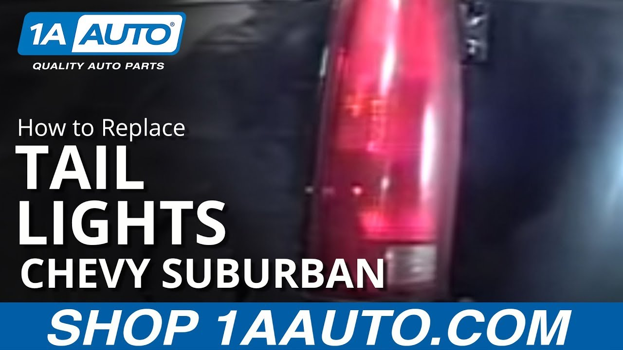 How To Replace Tail Lights 92 99 Chevy Suburban Youtube