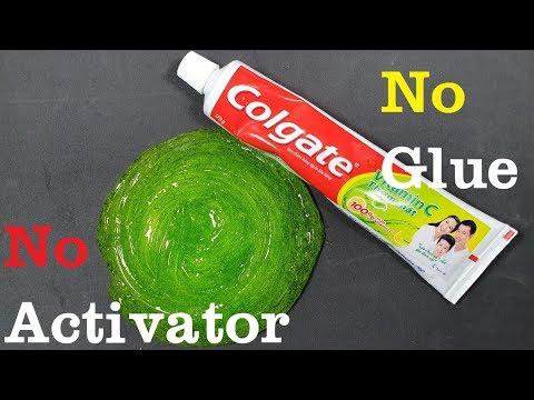 Salt Slime, DIY ClogateToothpaste Slime!! No Shaving Cream, No Glue, No Borax