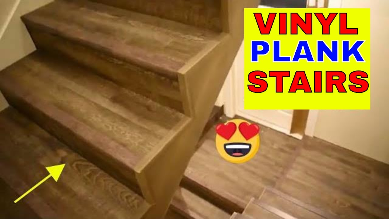 Vinyl Plank Flooring On Stairs Youtube | Laying Hardwood On Stairs | Cost | Nosing | Combined Wood | Oak | Wood Stair