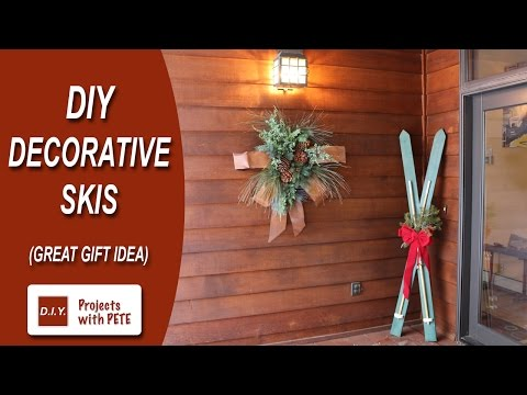 How to Make DIY Decorative Skis