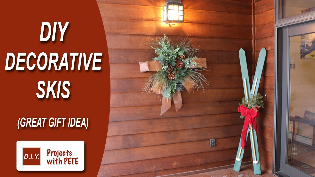 How To Make Diy Decorative Skis