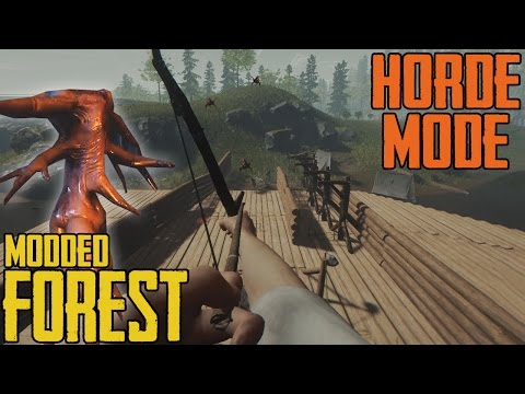 THE FOREST HORDE MODE ☠ Modded The Forest Spielmodus 💀