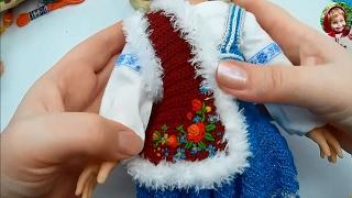 Одежда для кукол крючком: украшаем жилет вышивкой рококо