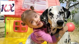 VLOG настоящий Далматинец Наша собака / Открываем большие киндеры Kinder Maxi