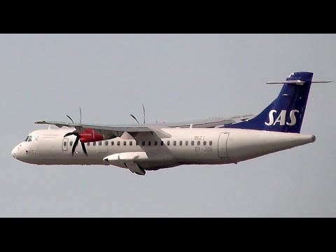Scandinavian Airlines (SAS) Aerospatiale ATR-72-600 OY-JZG takeoff at Berlin Tegel airport