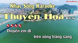 Thuyền Hoa Karaoke Nhạc Sống Cha Cha Cha - Beat Nữ Hay Nhất
