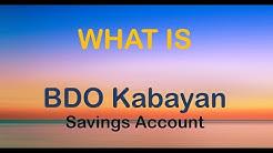What is BDO Kabayan Savings Account
