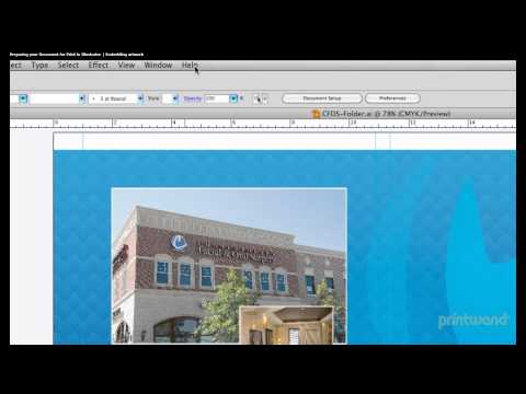 Embedding artwork in Illustrator - Print Document Tutorial 2/7