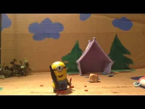Olaf vs Minion Stop Motion Video