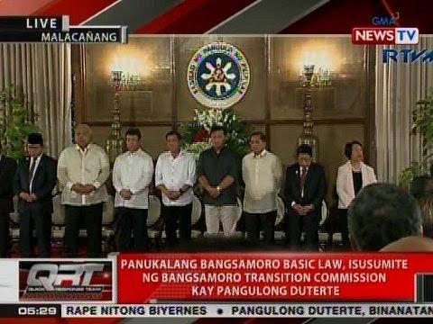 QRT: Panukalang BBL, isusumite ng Bangsamoro Transition Commission kay Pres. Duterte