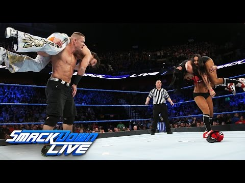 Thumbnail: John Cena vs. Fandango: SmackDown LIVE, March 21, 2017