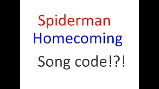 Spiderman Homecoming main theme song code | Roblox