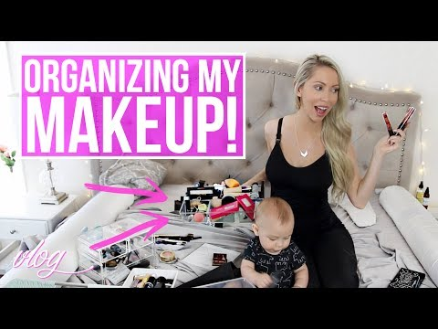 MAKEUP DECLUTTER AND ORGANIZATION!