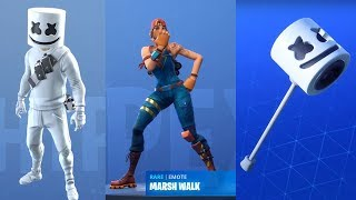 MARSHMELLO SET ON FORTNITE! SKIN, PICCONE AND EMOTE! NEW EVENT CHALLENGES!