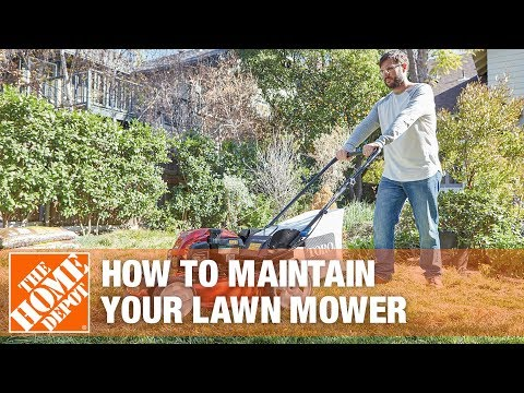 How To Maintain Your Lawn Mower The Home Depot Youtube